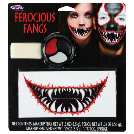 Scary Mouth Makeup Temporary Tattoo image