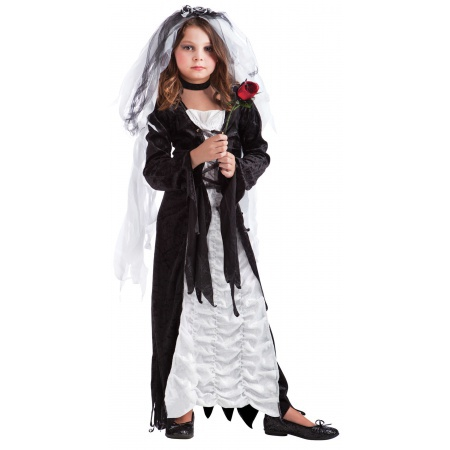 Dead Bride Costume For Kids image