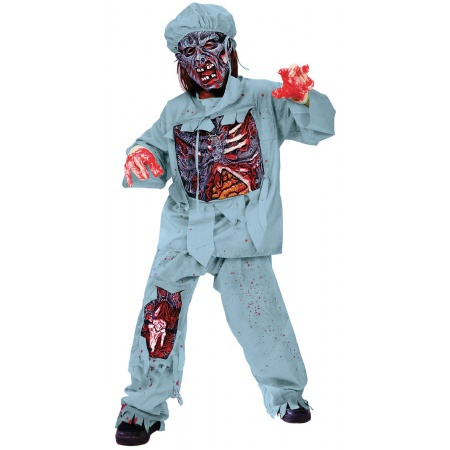 Kids Zombie Doctor Costume image