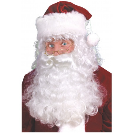 Santa Claus Beard Wig And Eyebrows image