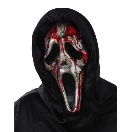 Bleeding Zombie Ghostface Mask image