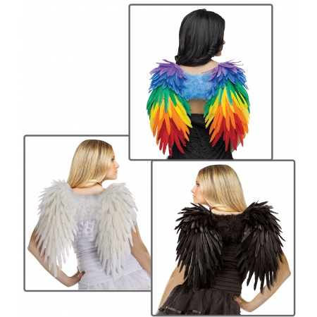 Feather Angel Wings Costume image