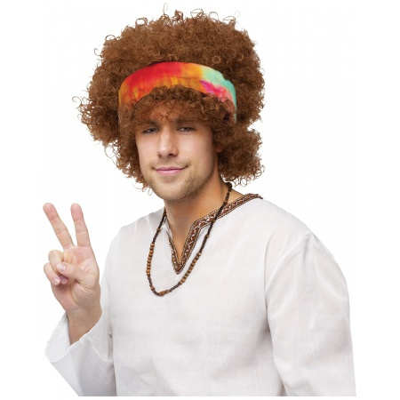 Adult Afro Hippie Wig image