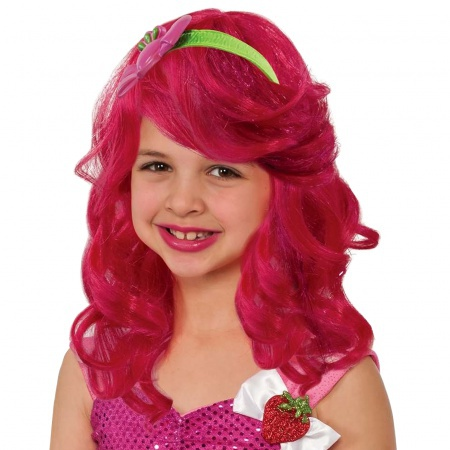Kids Strawberry Shortcake Wig image