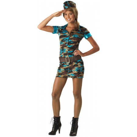 Teen Army Costume For Girls image