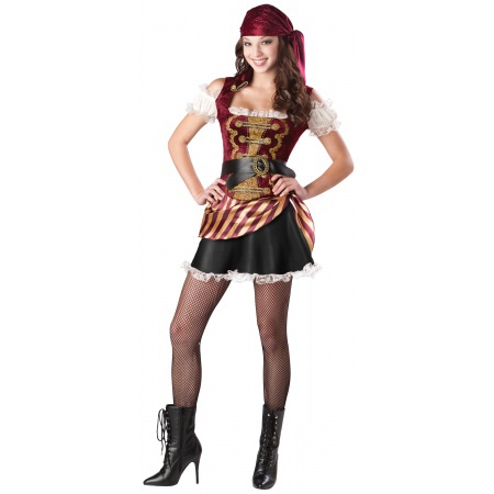 Pirate Babe Costume Buccaneer image