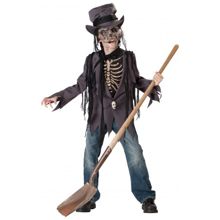 Skeleton Zombie Costume image