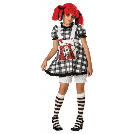 Creepy Doll Costume For Tweens image