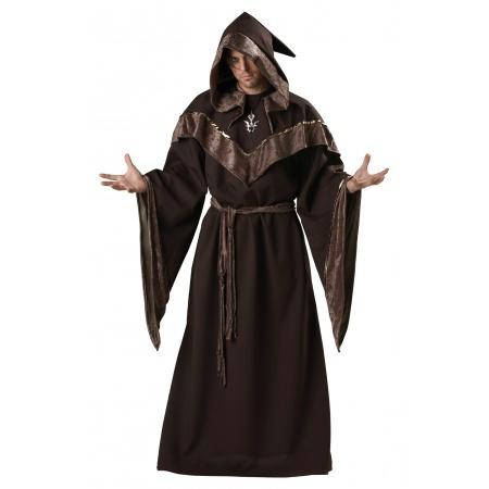 Mystic Sorcerer Costume Medieval Wizard Priest image