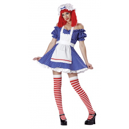 Adult Rag Doll Halloween Costume image