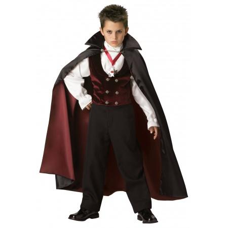 Dracula Costume For Kids image