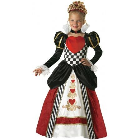 Girls Queen Of Hearts Costume image