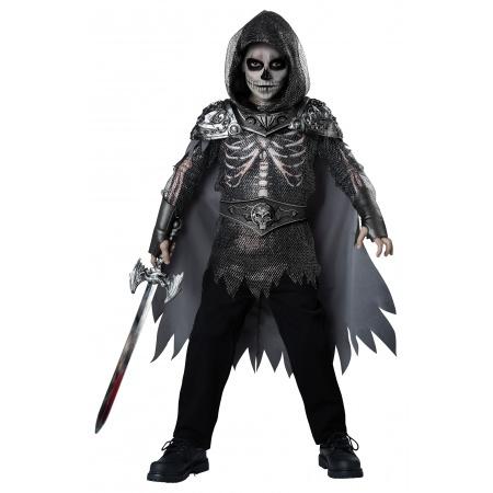 Skeleton Warrior Boys Knight Costume image