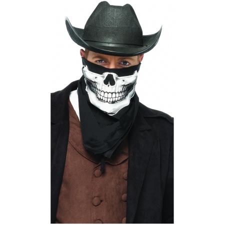 Skull Bandana Costume Accessory Grim Cowboy Reaper Western image