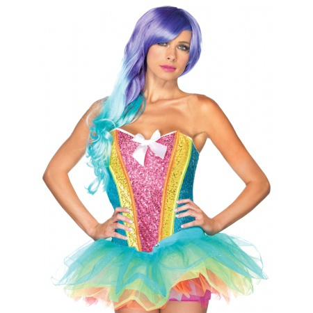 Rainbow Sequin Corset image