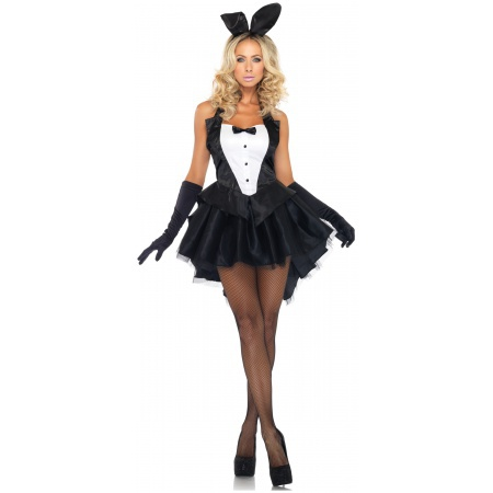 Sexy Black Tuxedo Bunny Costume For Women image