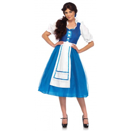 Beauty And The Beast Belle Blue Dress Costume image