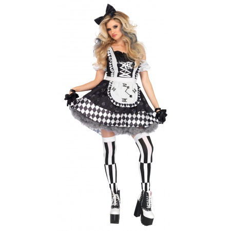 Black And White Alice In Wonderland Costume image