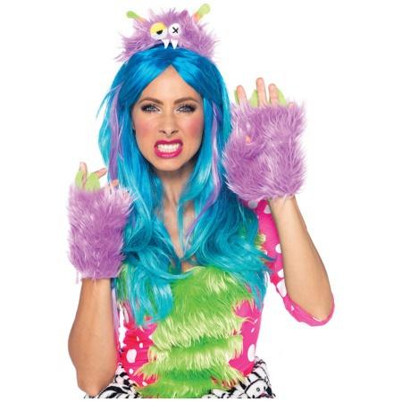 Hairy Herbert Monster Kit Costume Accessory Purple Plush Furry Rave image