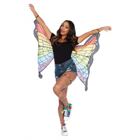 Rainbow Butterfly Wings Costume image