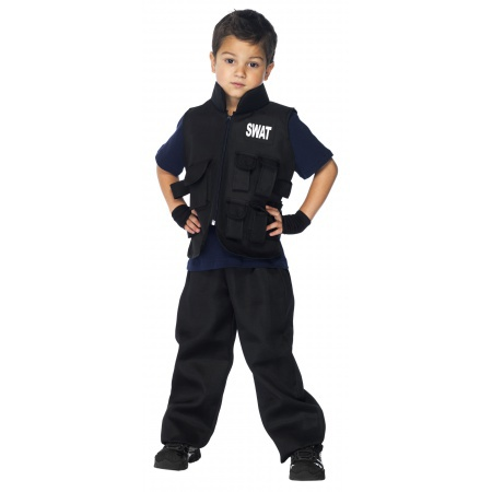 Kids SWAT Costume image