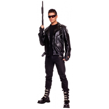The Terminator Costume Motorcycle Style Jacket image