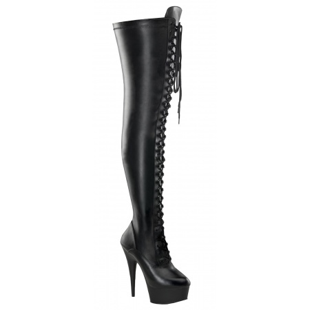 Lace Up Thigh High Boots image