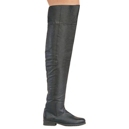 Black Knee High Boots image