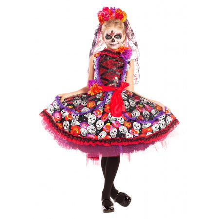 Day Of The Dead Costume Girl image