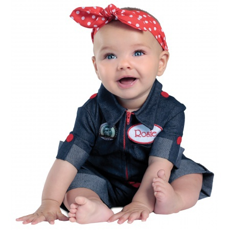 Rosie The Riveter Baby Costume image