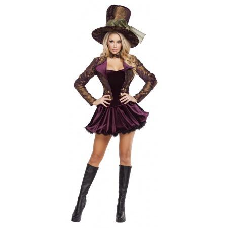 Female Mad Hatter Costume image