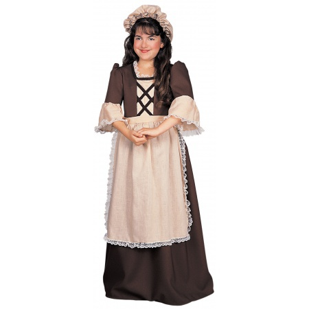 Kids Colonial Dress Costume image