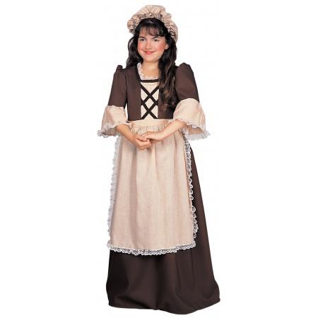 Kids Colonial Dress Costume image