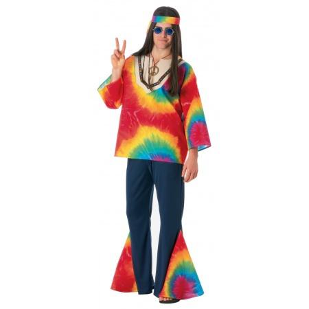 Adult Hippie Costume image