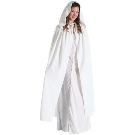 Arwen Cloak Costume Accessory White Hooded Cape image