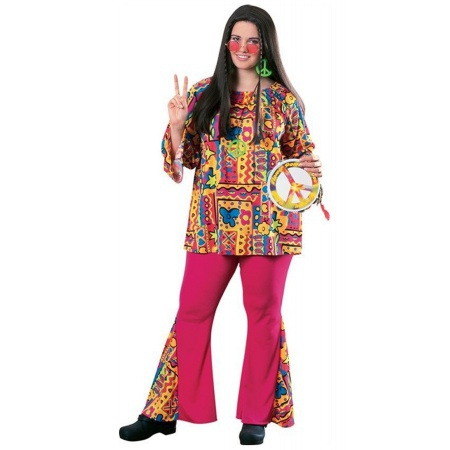 Hippie Plus Size Costume image
