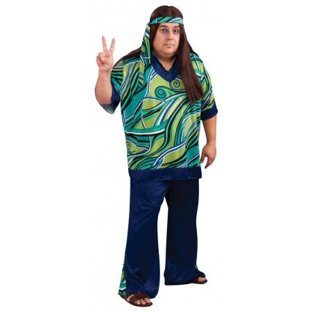 Male Hippie Costume image