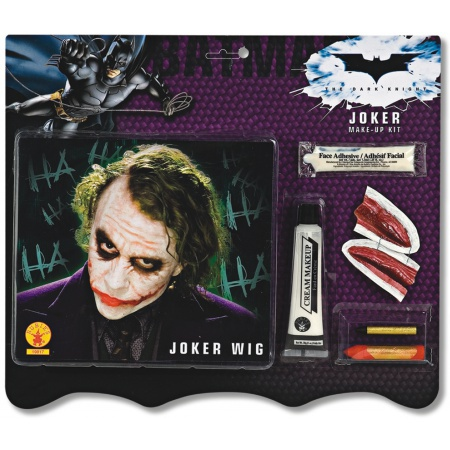 Deluxe Joker Wig & Make-Up Kit Costume Accessory Set image