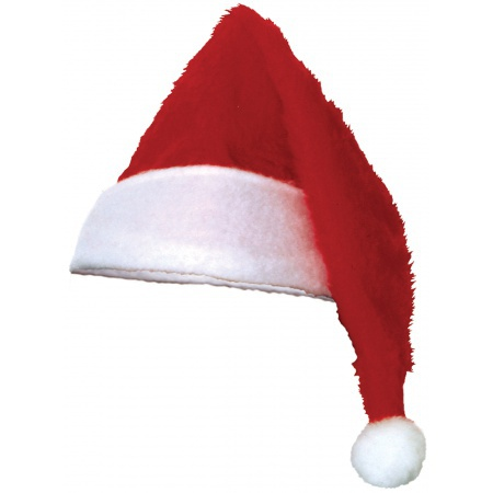 Classic Santa Claus Hat Costume Accessory Plush Stocking Cap image