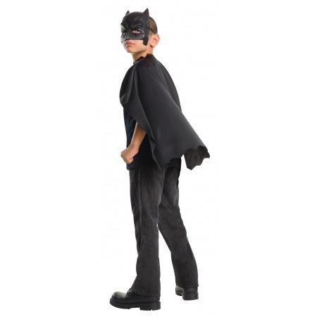 Kids Batman Cape And Mask Superhero Costume image