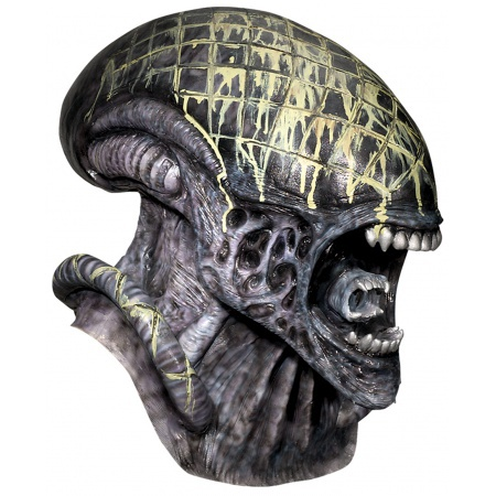 Deluxe Alien Mask Costume Accessory Sci Fi Horror image