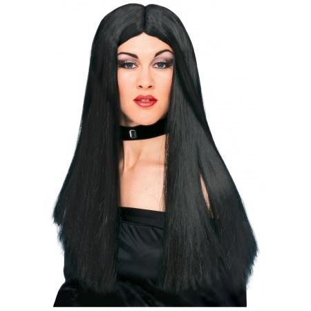 Long Black Wig image