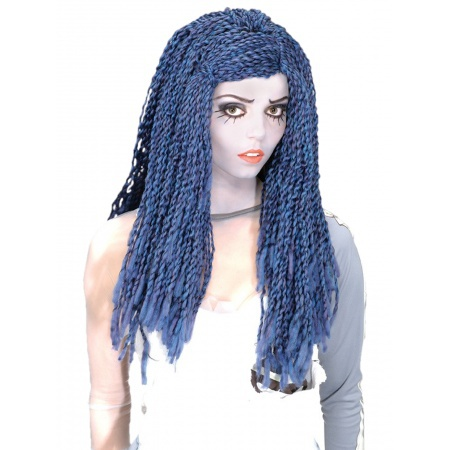 Corpse Bride Wig Costume Accessory Blue & White image