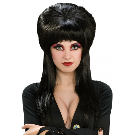 Deluxe Elvira Wig Costume Accessory Long Black Vampire image
