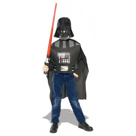 Darth Vader Accessory Kit Costume Set With Lightsaber Dress-Up image