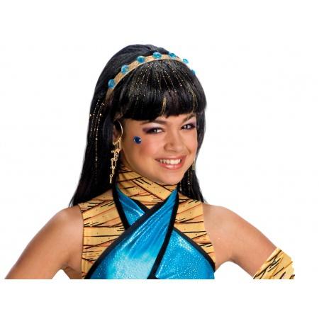 Cleo De Nile Wig Costume Accessory Cleopatra Mummy image