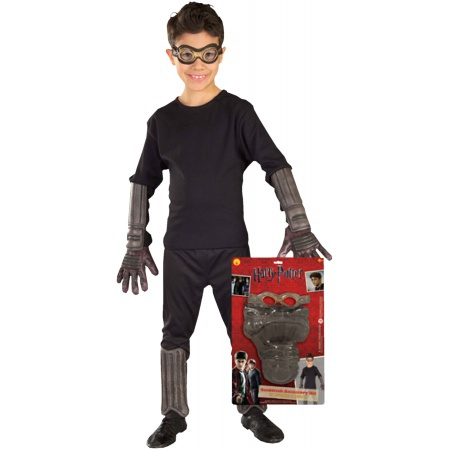 Quidditch Kit Costume Accessory Set Goggles, Gloves, Arm & Leg Guards image