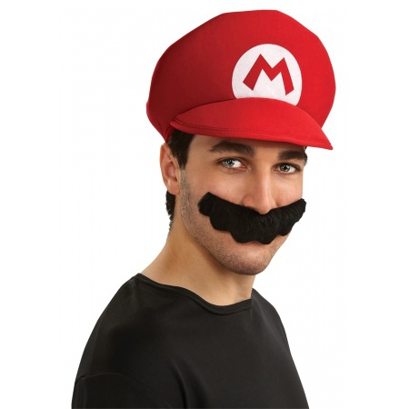 Super Mario Hat And Mustache image