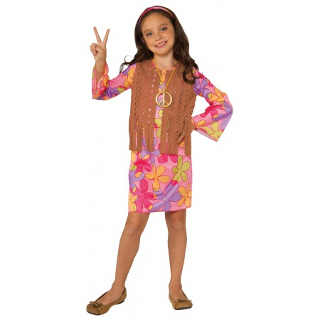Girls Hippie Costume image