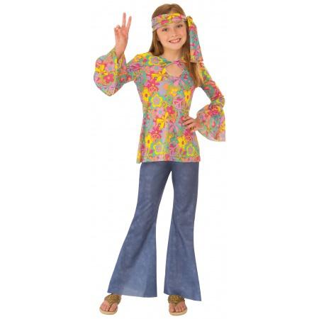 Girls Hippie Costume image